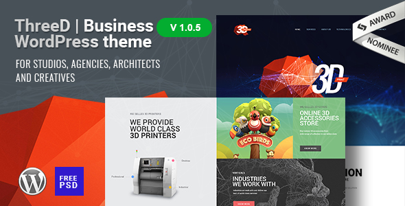 ThreeD | WordPress Theme for Architects, Studios & Agencies