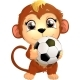 Monkey with Soccer Ball - GraphicRiver Item for Sale