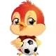 Bird with Soccer Ball - GraphicRiver Item for Sale