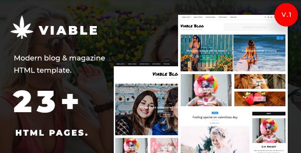 Viable – Modern Magazine & HTML Blog Template