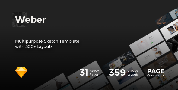 Weber - Multipurpose Sketch Template with 350+ Layouts