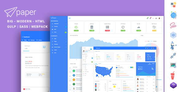 HTML HTML Admin Website Templates from ThemeForest
