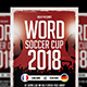 Word Soccer Cup Flyer - GraphicRiver Item for Sale