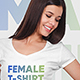 Female V-Neck T-Shirt Mockup Vol2 - GraphicRiver Item for Sale