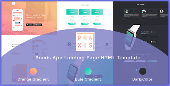 AppPraxis - App Landing Page