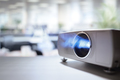 Presentation with lcd video projector in office - PhotoDune Item for Sale