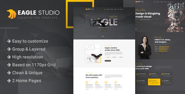 Eagle Studio – Creative PSD Template