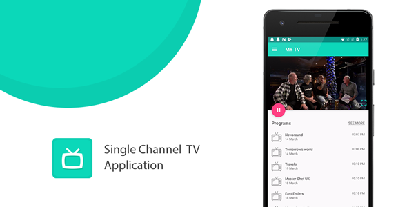 Make A TV Stream App With Mobile App Templates from CodeCanyon