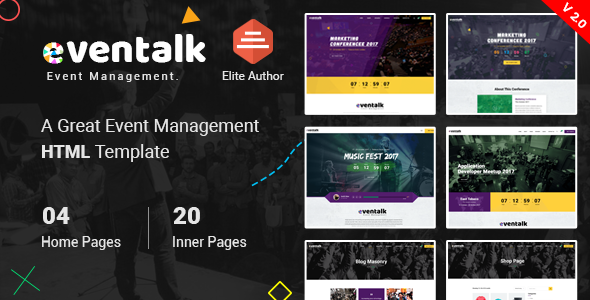 EvntTalk - Event & Conference HTML Template
