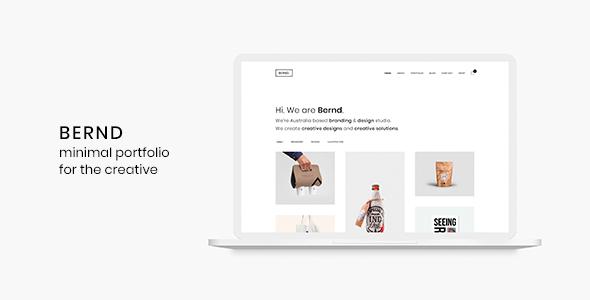 Bernd - Minimal WordPress Portfolio Theme