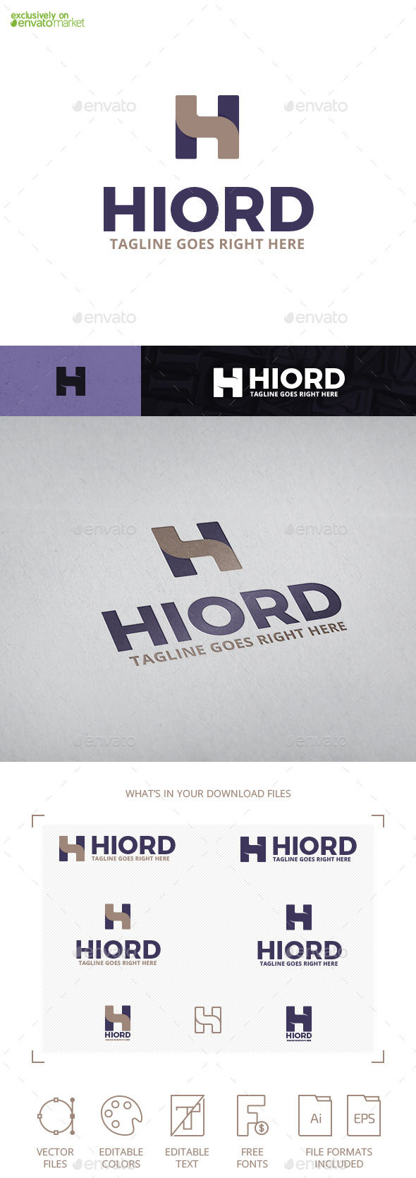 Hiord Letter H Logo Template