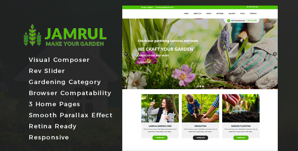 Jamrul - Landscaping WordPress Theme