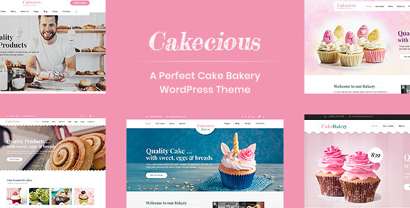 Cakecious - Cake Bakery Food WordPress Theme