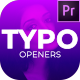Typography Opener: Premiere Pro - VideoHive Item for Sale