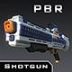 PBR Sci-Fi Shotgun - 3DOcean Item for Sale