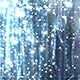 Silver Glossy Rain Background with Glitter Particles - VideoHive Item for Sale