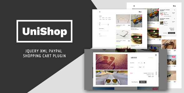 UniShop - jQuery XML PayPal Shopping Cart Plugin