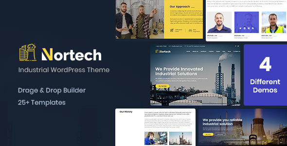 Nortech - A Industry and Engineering WordPress Theme