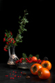 Still Life With Persimmon And Berries - PhotoDune Item for Sale