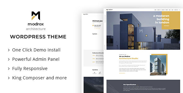 Modrox : Architecture And Interior WordPress Theme