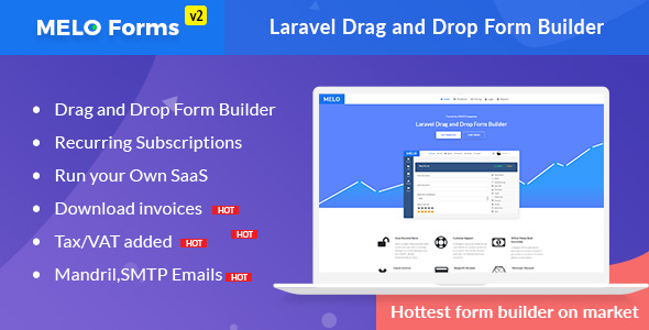 MeloForms – Laravel Drag and Drop Form Builder Software