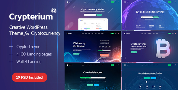 Crypterium - Bitcoin Blockchain WordPress Theme