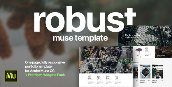 Robust | Coffee, Architect, Creative Portfolio Template for Adobe Muse CC