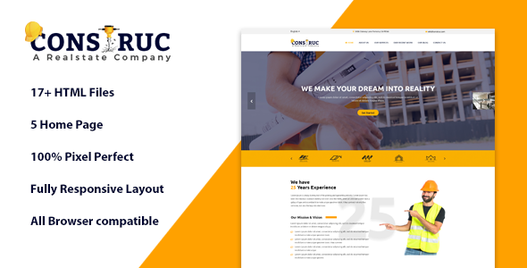 Construc | Ultimate Construction Business Template