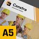 Construction Business A5 Brochure - GraphicRiver Item for Sale