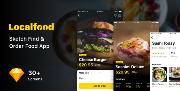 Localfood - Sketch Find & Order Food App
