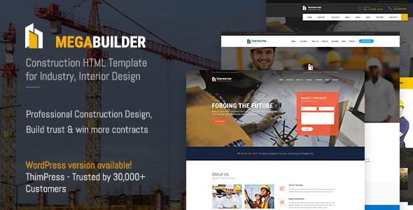 MegaBux | Construction HTML Template