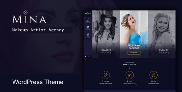 Mina - Salon & Makeup WordPress theme