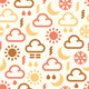 Seamless Pattern Of Weather Icons  - GraphicRiver Item for Sale