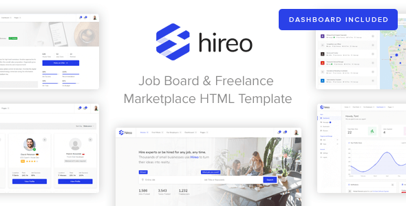 Hireo - Job Board & Freelance Services Marketplace HTML Template
