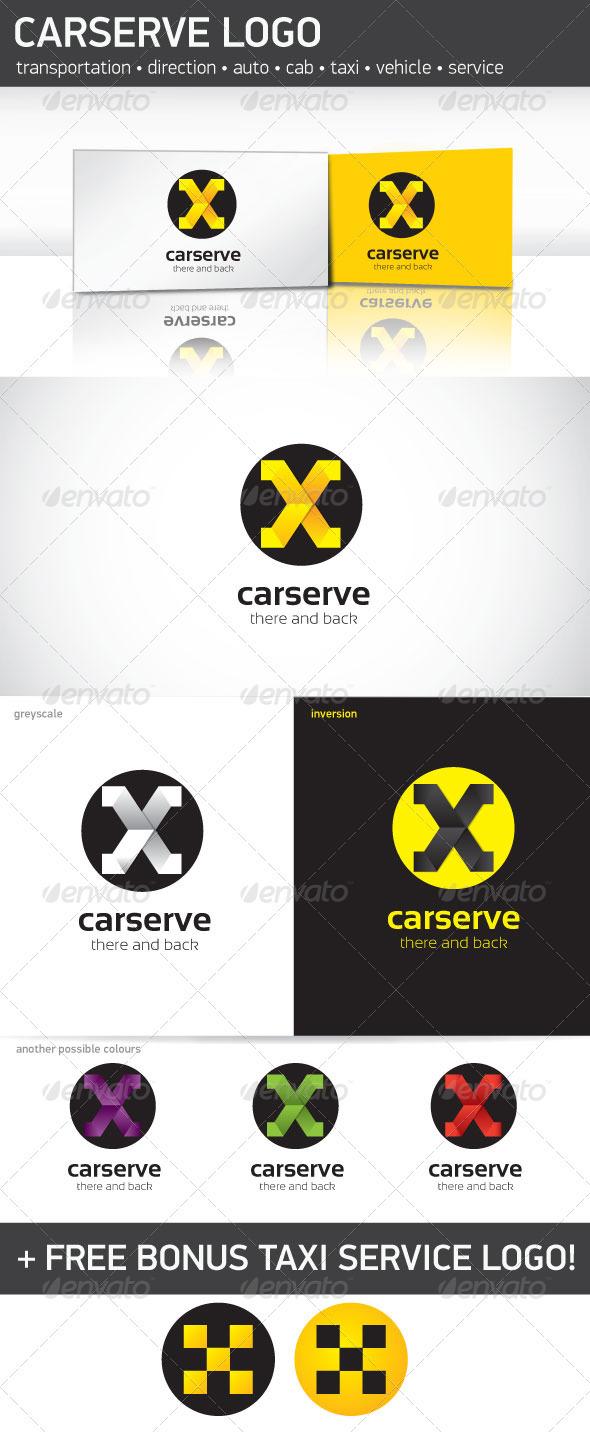 Car Serve Logo Template