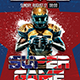 Super Ball Game Flyer Template - with 3 Different Size Templates - GraphicRiver Item for Sale