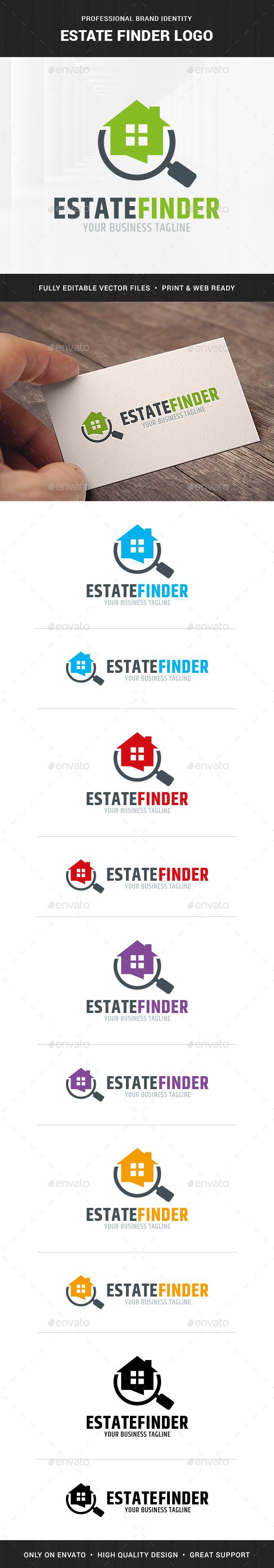 Estate Finder Logo Template