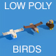 Low Poly Animals Birds - 3DOcean Item for Sale