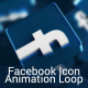 3D Facebook Icon Loop - VideoHive Item for Sale