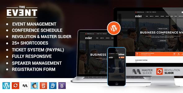 TheEvent – Event Management and Conference WordPress Theme