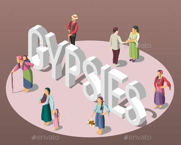 Gypsies Isometric Background