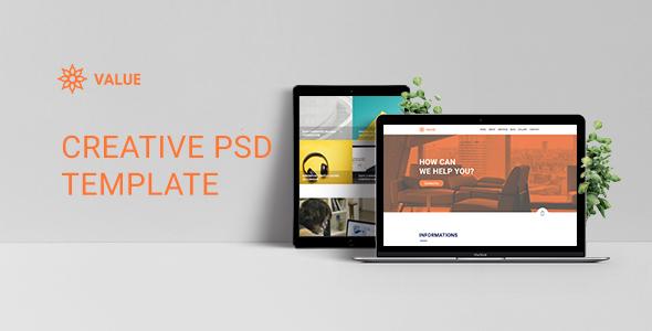 Value – Creative Corporate PSD Template