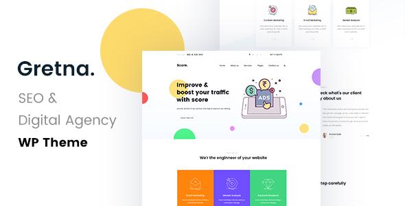Gretna - SEO /Digital Agency WordPress Theme