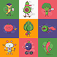 Flat Quirky Vegetable Characters Set - GraphicRiver Item for Sale