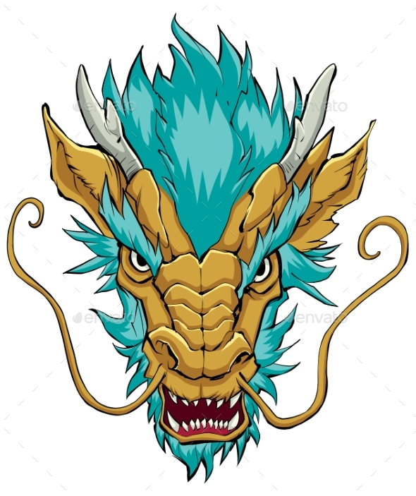 Chinese Dragon Head Gold