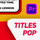 Pop Titles Pack - VideoHive Item for Sale