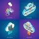 Cloud Services Concepts Set - GraphicRiver Item for Sale