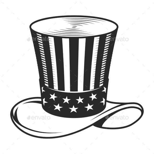 Vintage Uncle Sam Hat Template
