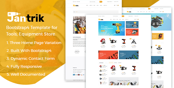 Jantrik - Tools Equipment Store eCommerce HTML Template