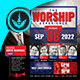 Worship and Praise Square Flyer Template - GraphicRiver Item for Sale